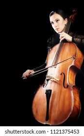 Cello player. Cellist playing violoncello classical musician isolated