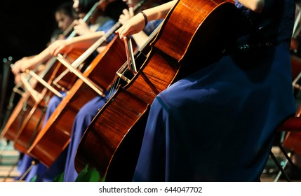 Cello playing