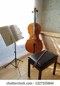 cello in the room