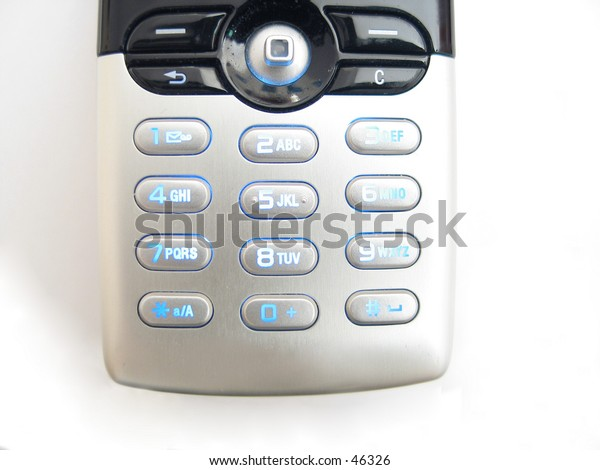 a cellphone with blue light keypad