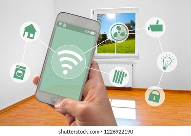 Cellphone Smartphone with smarthome control app