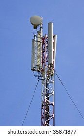 cellular antenna over blue sky