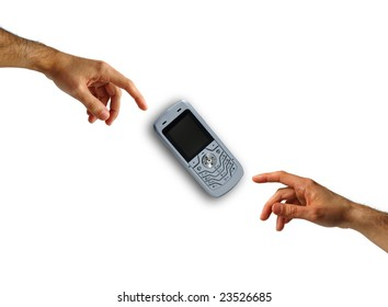 Cellular phone and hands