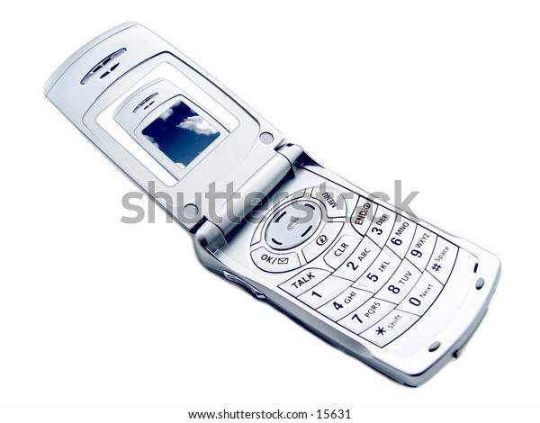 Cellular phone with a picture of a cellular phone on the screen, Part of Cellular Phone Series