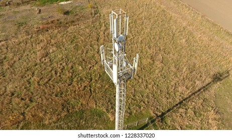 Cellular tower. Equipment for relaying cellular and mobile signal. Cellular tower.