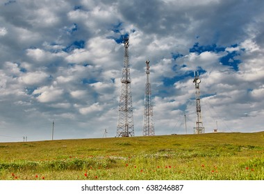 Cellular tower in the Steppe