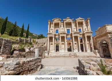 Celsius library of Ephesus in Kusadasi, Turkey