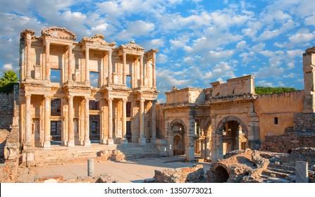 Celsus Library in Ephesus - Aydin,Turkey