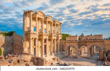 Celsus Library in Ephesus - Selcuk, Turkey