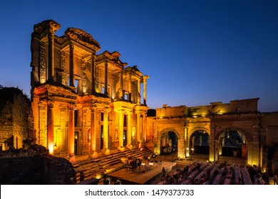 Celsus Library is one of the most beautiful structures in Ephesus. It was built in 117 A.D. Celsus Library was a monumental tomb for Gaius Julius Celsus Polemaeanus.