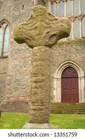 Celtic Cross in Downpatrick beside Saint Patrick's grave