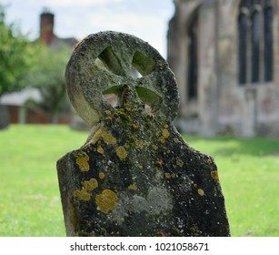 Celtic cross in an old cemetery