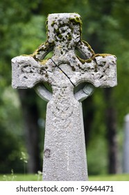 Celtic cross on the grave in Trondheim, Norway
