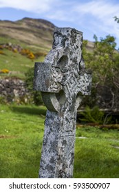 Celtic cross, St Maelrubha's Chapel, Eynort, Skye