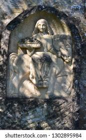 celtic goddess epona religion culture art old sculpture ancient france burgundy