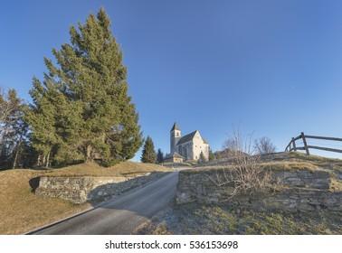 Celtic and roman defensive walls of the settlement on Magdalensberg near Klagenfurt, Austria