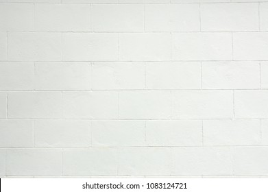 Cement brick or block Wall White Color Painted texture background