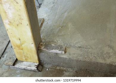 cement concrete floor in construction site industry