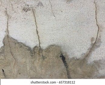 Cement crack wall