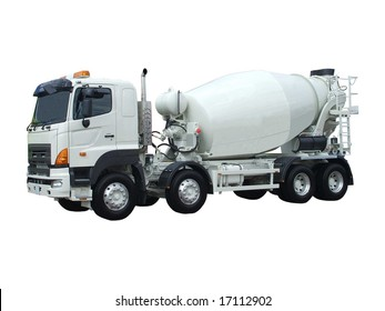 A Cement Delivery Lorry.