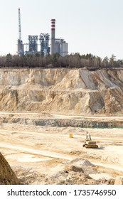 cement factory in the background - view from gravel excavation site
