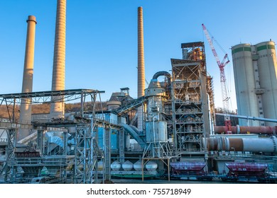 Cement factory, Mokra, Czech republic. Iron construction.
