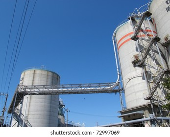 cement factory over blue sky