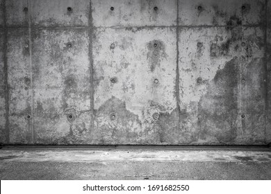 Cement Floor and Concrete Wall with Copy Space