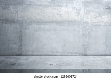 Cement floor and wall background,interior, room,design display products.