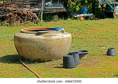 Cement jar on field