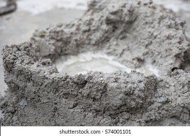 Cement mix  for construction work.