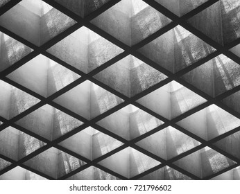 Cement panel ceiling pattern Lighting void Architecture details