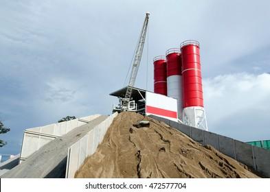 Cement plant ,mix concret