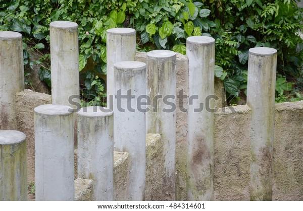 Cement Post Nature Garden Stock Photo (Edit Now) 484314601