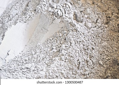 Cement powder before mix to concrete. Gray cement powder abstract background. Cloweup texture. Renovate and building industry. Soft dry texture. Dust and powder.