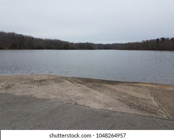 cement ramp for launching boats and water
