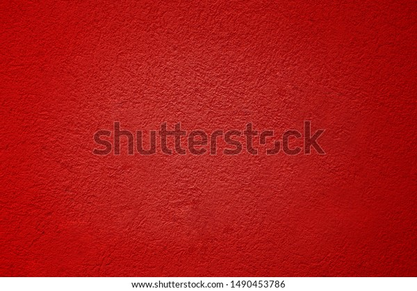 Cement Red plaster wall have rough surface concrete. For texture background images