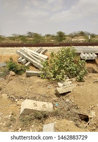 Cement Sleepers near a newly constructed railway line