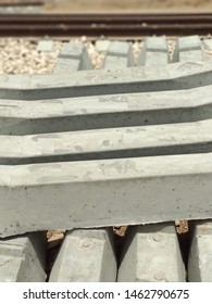 Cement sleepers for railway line construction