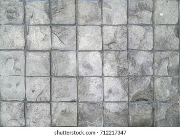 Cement Stamp Square Pattern Grey Tone