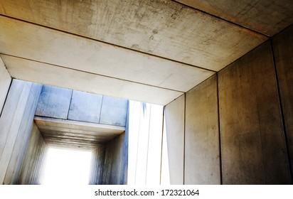 Cement structure.architectural image.Precast concrete