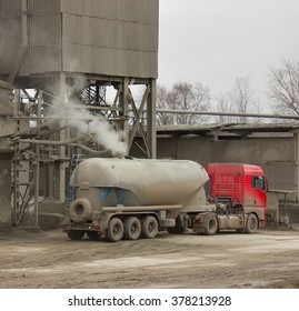 The cement truck