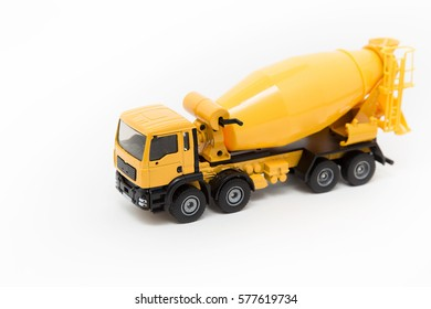 Cement truck Toy isolated
