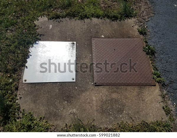 cement with two metal covers