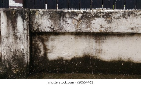 a cement wall