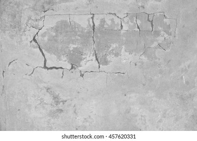 cement wall with crack texture