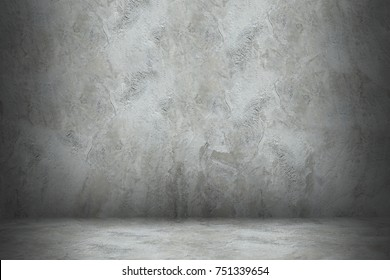 cement wall and floor with shadow for design.