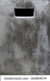 Cement wall with rectangle hole