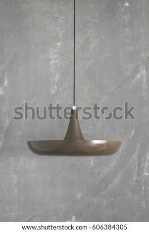 Cement Wall Vintage Hanging Lamp Home Stock Photo Edit Now