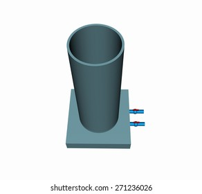 The cement water tank  3D